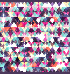 triangle seamless pattern grunge effect vector image