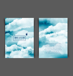 Two-sided vertical flyer a4 format vector