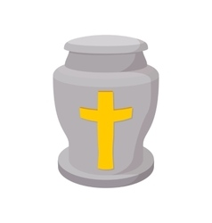Urn for ashes cartoon icon vector image