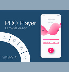 ux audio player templates stock eps10 vector image