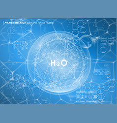 Water research background with hud elements vector