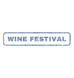 Wine festival textile stamp vector