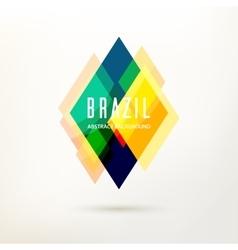 Geometric logo in Brazil color concept vector image
