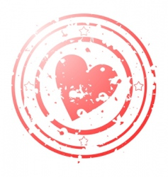 heart seal vector image vector image