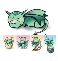 Little dragon vector image vector image