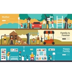 Mother Family Is Forever Happy flat interior vector image vector image