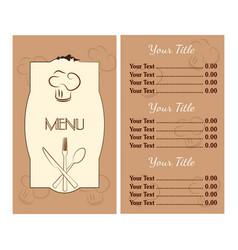 abstract menu presentation vector image