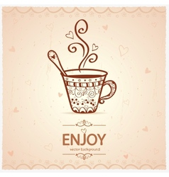 cup vintage vector image vector image
