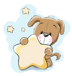 Dog with star vector image vector image
