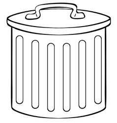 Trashcan vector image vector image
