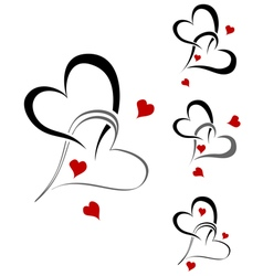 Valentines graphic pattern set vector image vector image
