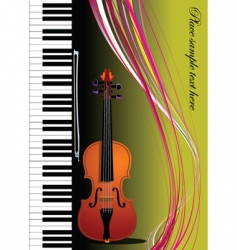 violin and piano vector image vector image