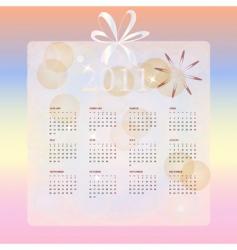 Wedding calendar for 2011 vector