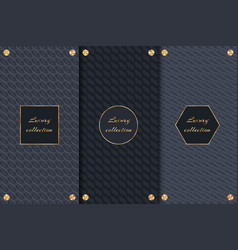 set for packing luxury chocolate vector image vector image