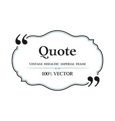 Vintage Quote blank with text bubble box balloon vector image vector image