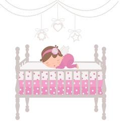 Little angel sleeping vector image