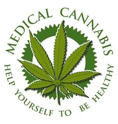 Medical Cannabis-emblem vector image vector image