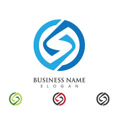 s letter logo template vector image vector image