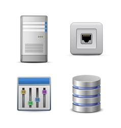 Server hosting icon vector image vector image
