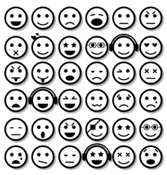 Set of Emoticons Isolated vector image