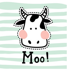 stitched moo vector image