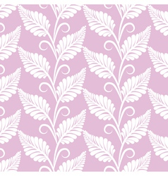 vinatge leaves seamless pattern vector image vector image