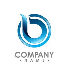 3d b letter logo design logo set b letter logo vector image