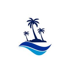 Abstract archipelago island logo icon vector