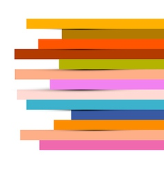 Abstract Colorful Paper Strips Background vector image
