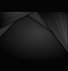 abstract metallic modern black frame design vector image