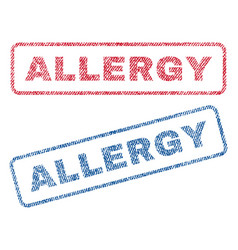 Allergy textile stamps vector