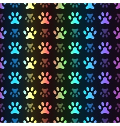 animal seamless spectrum pattern paw vector image