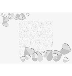 background with paper heart vector image