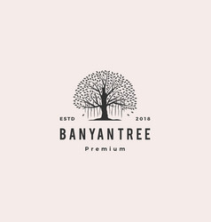banyan tree logo icon vector image