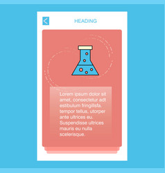 beaker mobile vertical banner design design vector image
