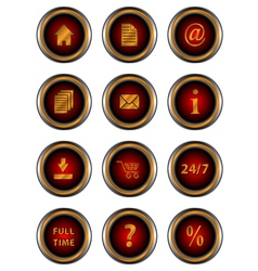 Big set web of red icons vector image