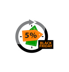 black friday discount 5 percentage vector image