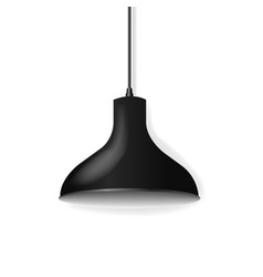 Black hanging lamp isolated white background vector
