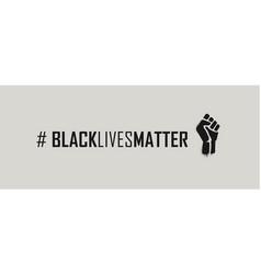 black lives matter hashtag vector image