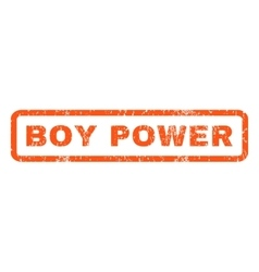 Boy Power Rubber Stamp vector