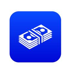 Bundle note icon blue vector