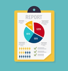 Business report with graphic and management vector image