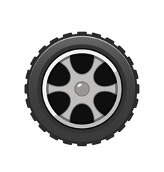 Car Tire icon isolated on white background vector