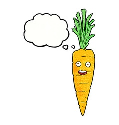 Cartoon carrot with thought bubble vector