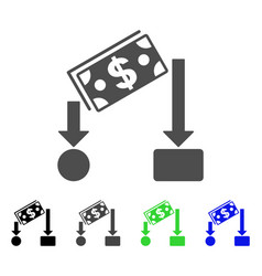Cash flow icon vector
