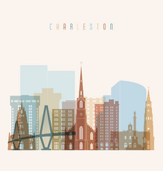 Charleston state south carolina skyline vector