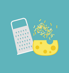 Cheese grater and cheese vector