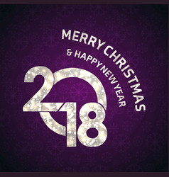 christmas greetings card with purple background vector image