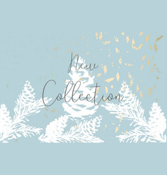 christmas tree cone painting winter vector image