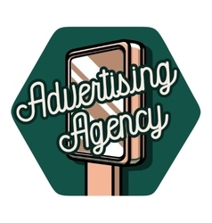 Color vintage advertising emblem vector